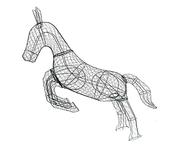 Galloping Horse 44'H Frame