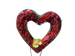 Heart with Flower Moss Topiary
