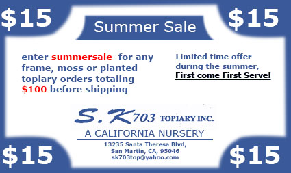 Coupon for all rosemary items on sktopiary.com, S.K Topiary Inc.